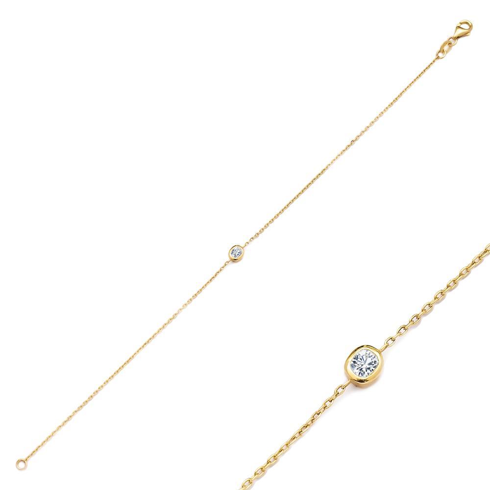 Dainty Design Diamond 0.20 Carat Turkish Wholesale 14k Gold Bracelet