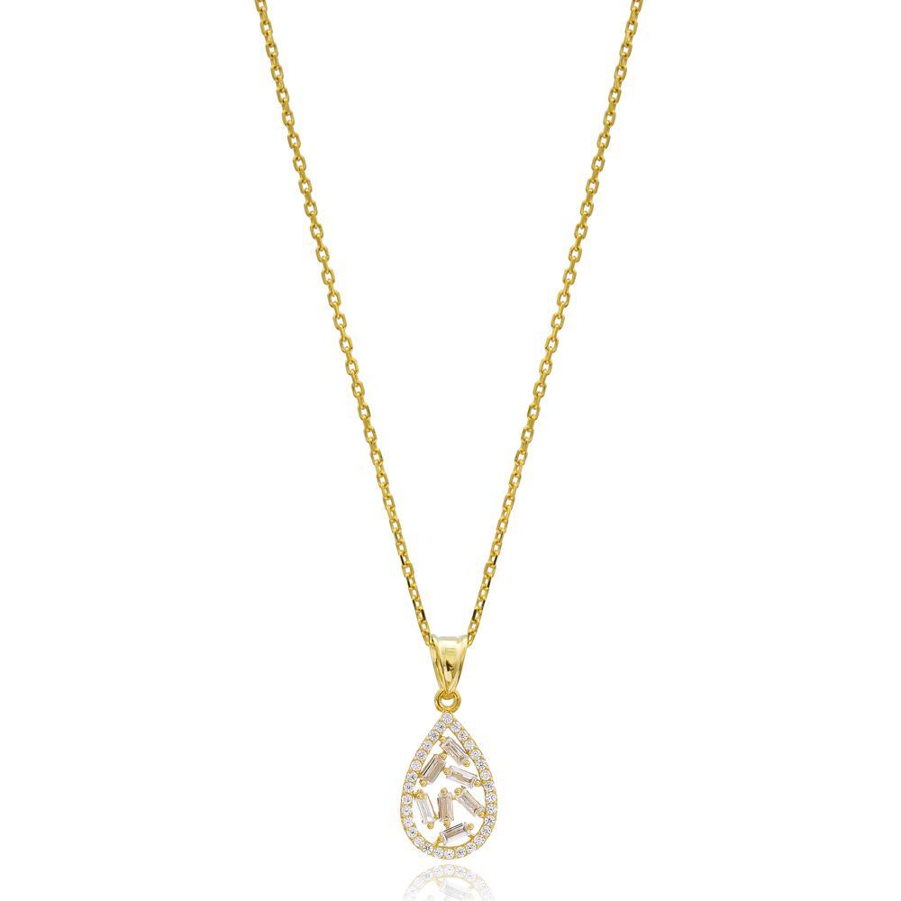 Drop Design Wholesale Turkish 14k Gold Necklace