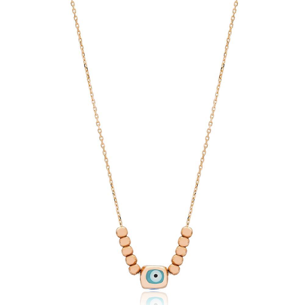 Evil Eye Wholesale Turkish 14k Gold Necklace