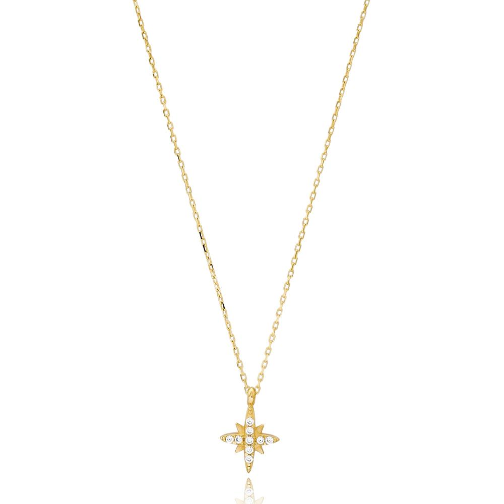 North Star Turkish Wholesale Handmade 14k Gold Necklace