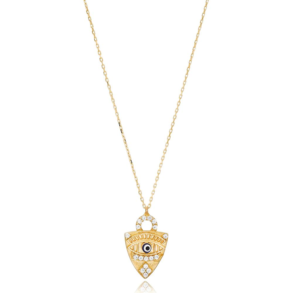 Evil Eye Design Wholesale Handmade 14k Gold Necklace