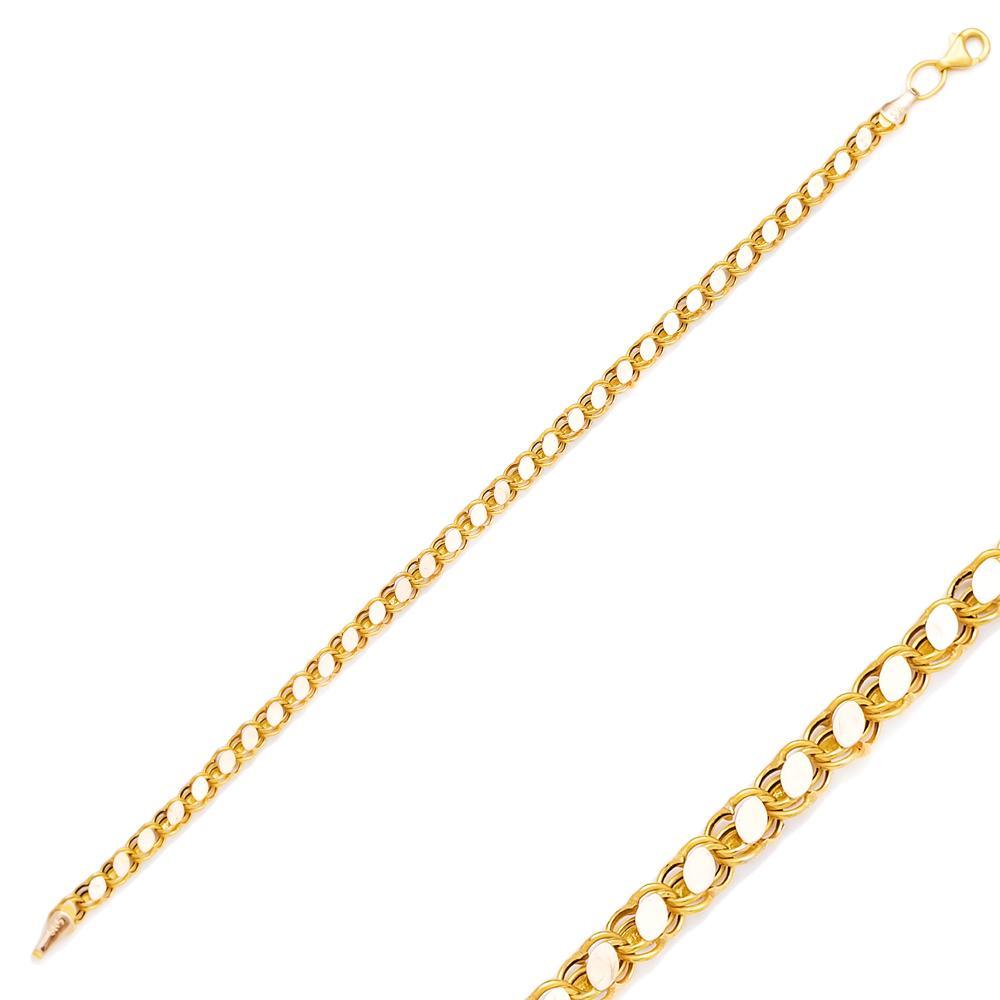 Cable Chain Turkish Wholesale 14k Gold Bracelet