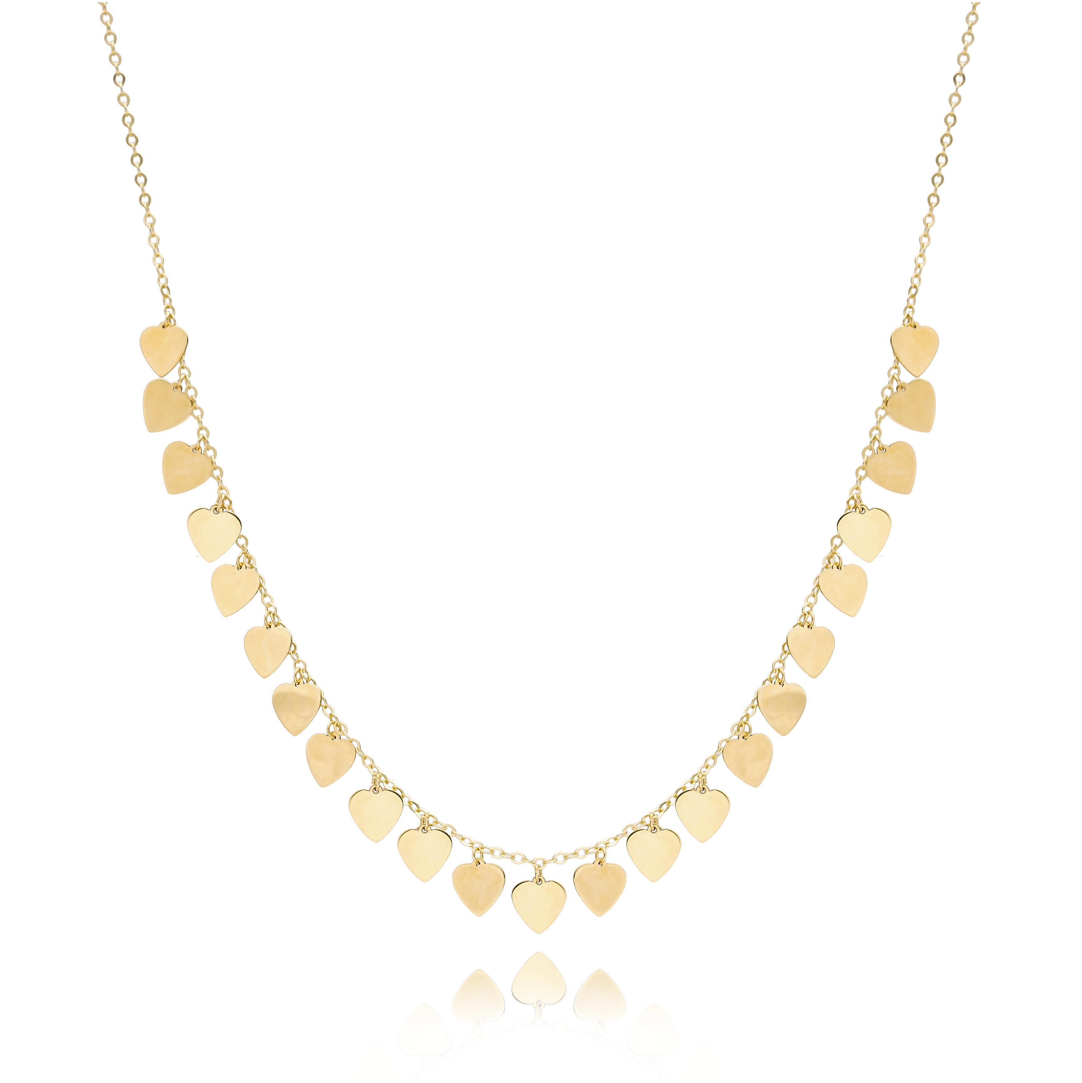 10K Gold Elegant Shaker Heart Pendant Wholesale Handmade Turkish Jewelry