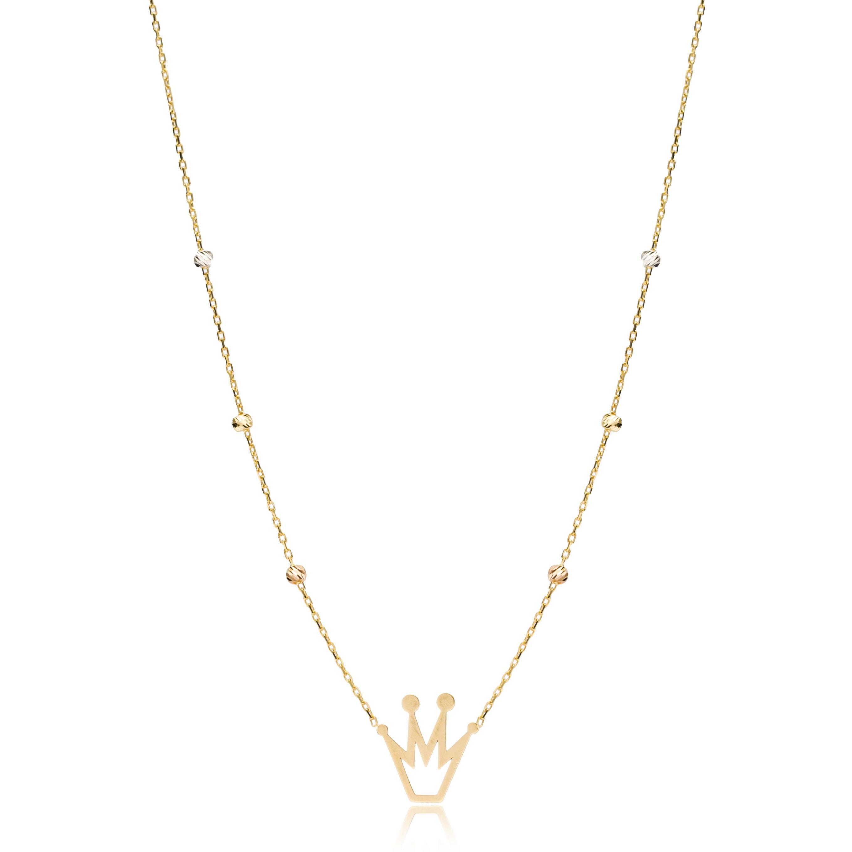 Crown Shape Necklace Wholesale Handmade Turkish 14K Jewelry