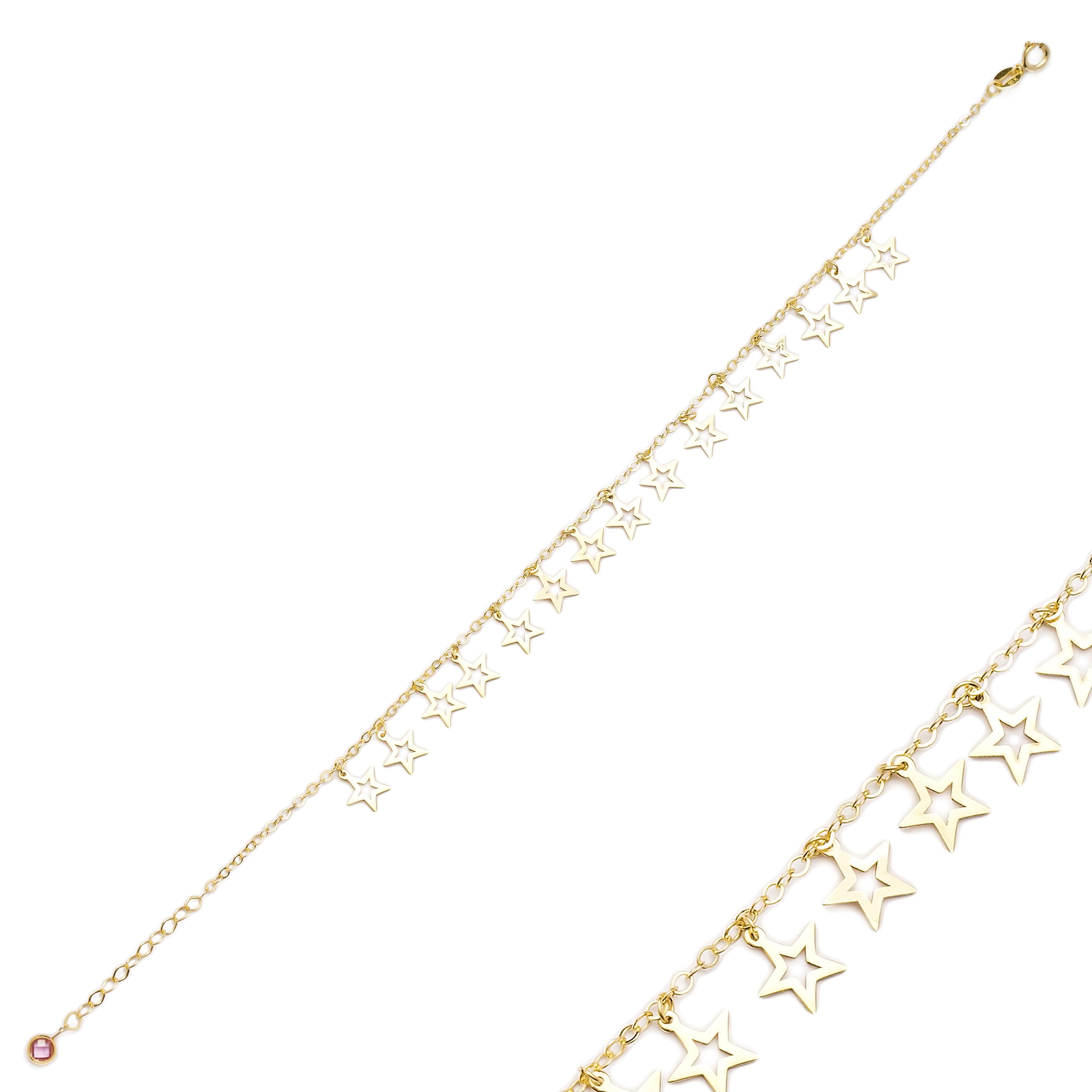 Wholesale Shaker Minimalist Star Shape 10k Gold Bracelet