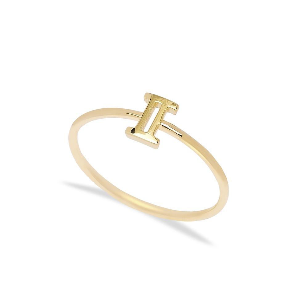 Gemini Zodiac Ring 14 k Wholesale Handmade Turkish Gold Jewelry