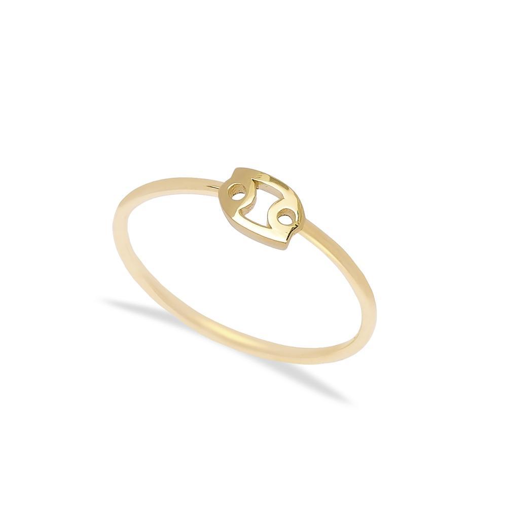 Cancer Zodiac Ring 14 k Wholesale Handmade Turkish Gold Jewelry