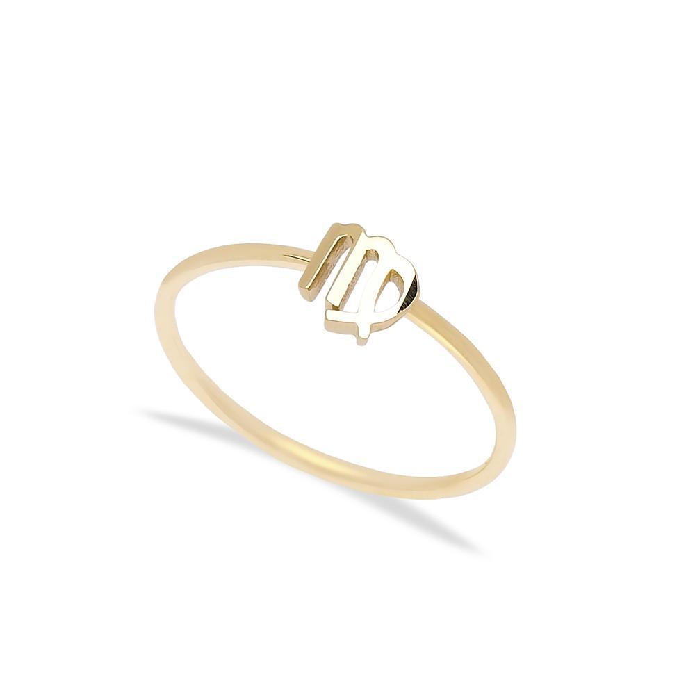 virgo Zodiac Ring 14 k Wholesale Handmade Turkish Gold Jewelry