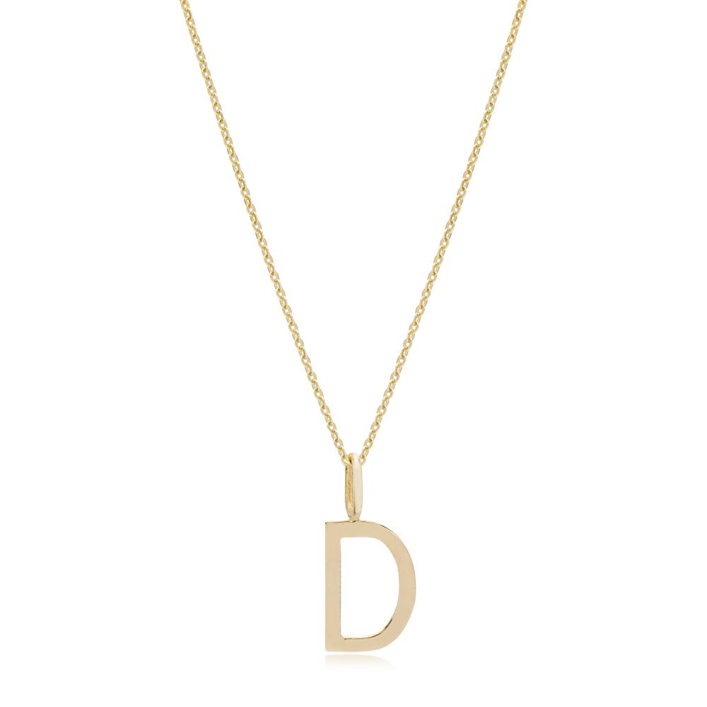 D Letter Pendant Turkish Wholesale 14k Gold Jewelry