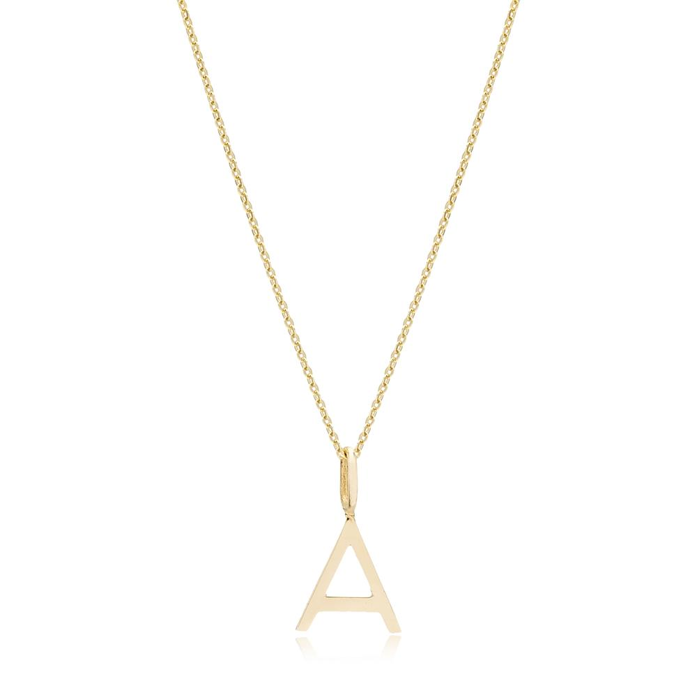 A Letter Pendant Turkish Wholesale 14k Gold Jewelry