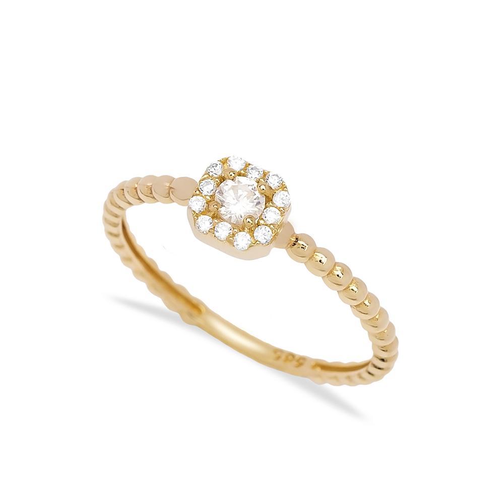 Minimal Design 14k Gold Ring Wholesale Handmade Turkish Gold Jewelry