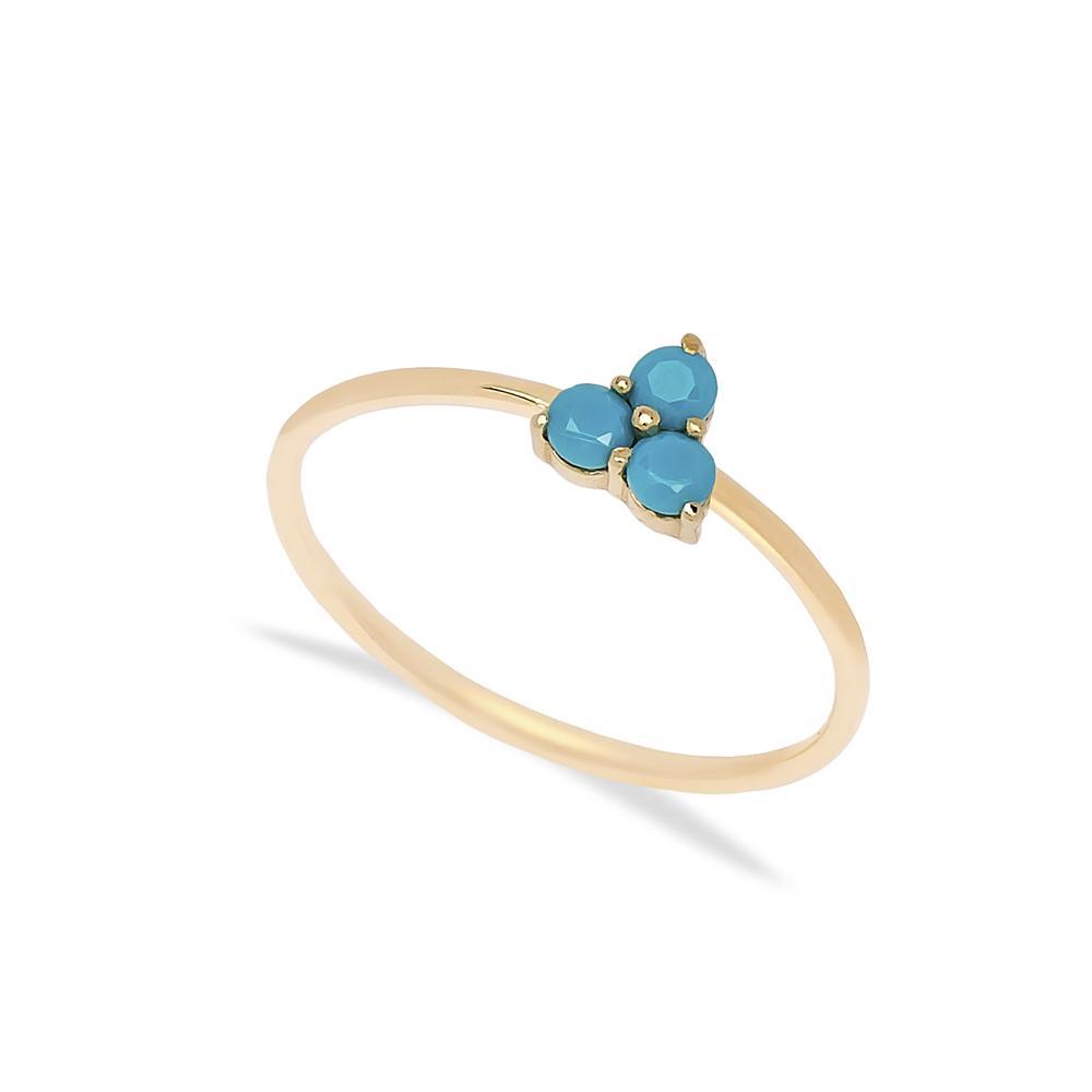 14k Gold Tria Ring Wholesale Handmade Turkish Gold Jewelry
