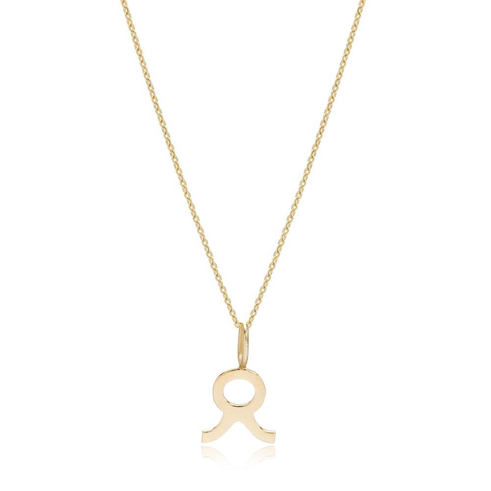 14K Gold Taurus Zodiac Pendant Turkish Wholesale Gold Jewelry