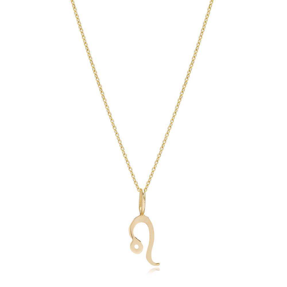 14K Gold Leo Zodiac Pendant Turkish Wholesale Gold Jewelry