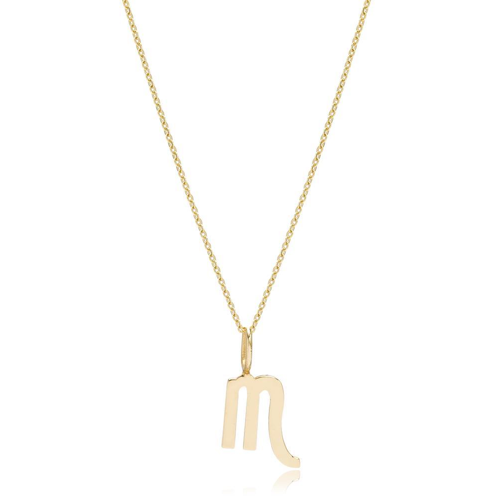 14K Gold Scorpio Zodiac Pendant Turkish Wholesale Gold Jewelry