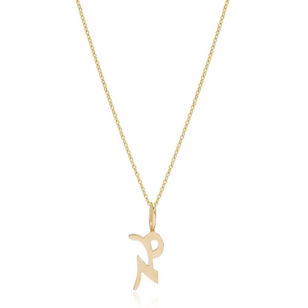 14K Gold Capricorn Zodiac Pendant Turkish Wholesale Gold Jewelry