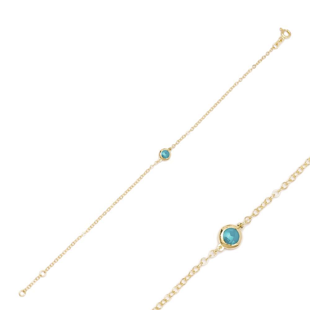 14K Gold Round Shape Bracelet Wholesale Handmade Turkish Jewelry