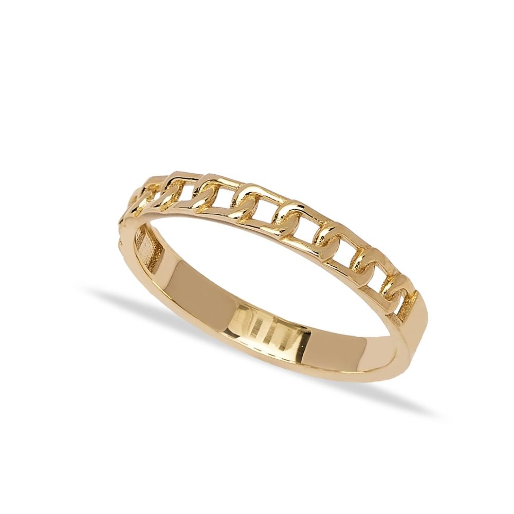 14k Solid Gold Band Ring Wholesale Handmade Turkish Gold Jewelry