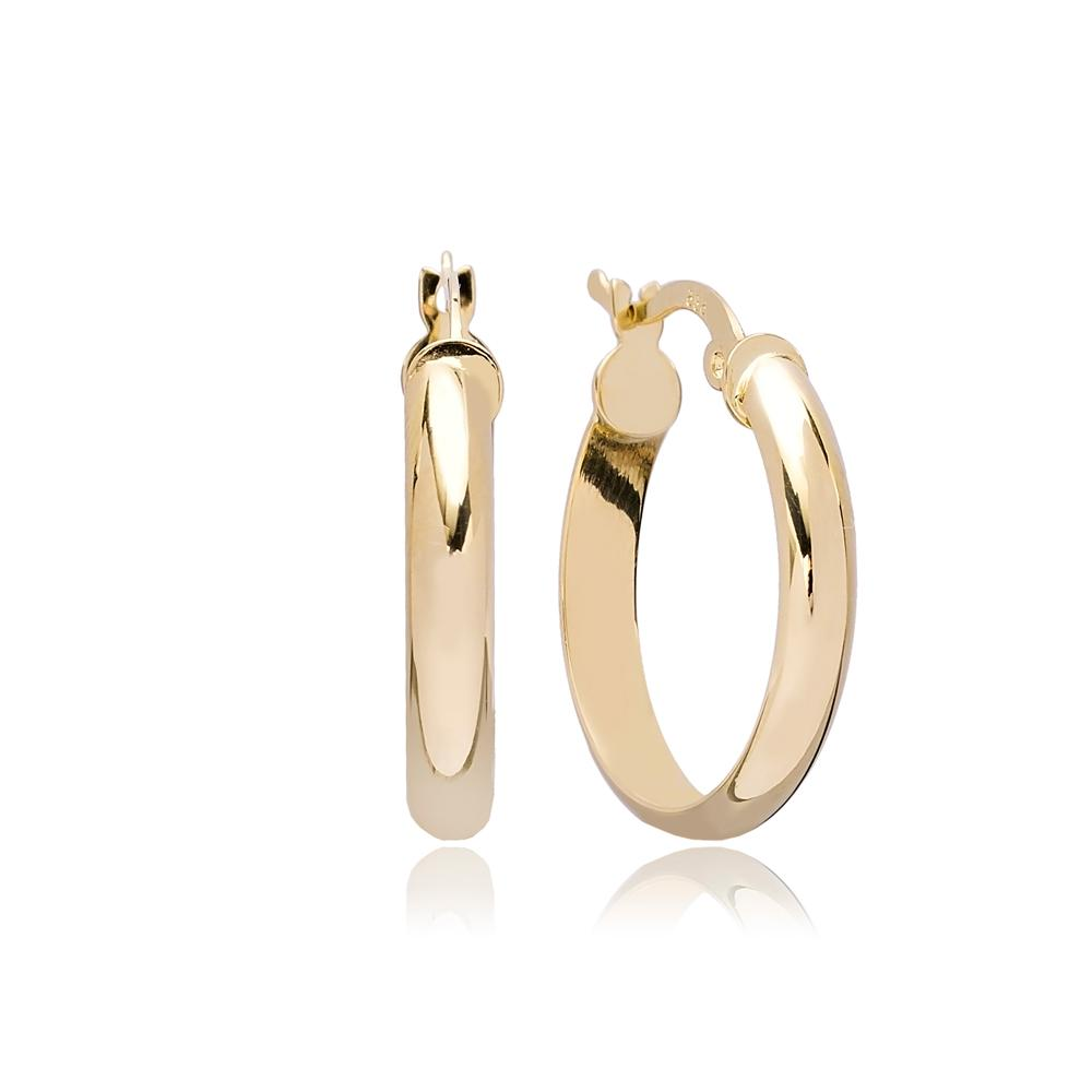 Vintage Hoop Earring Wholesale Turkish 14k Gold Earrings