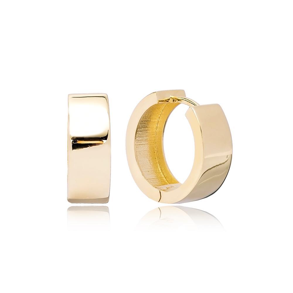 Chic Hoop Earring Wholesale Turkish 14k Gold Earrings