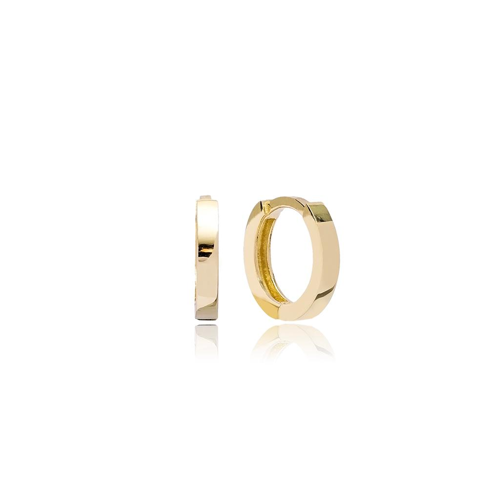 Tiny Hoop Earring Wholesale Turkish 14k Gold Earrings