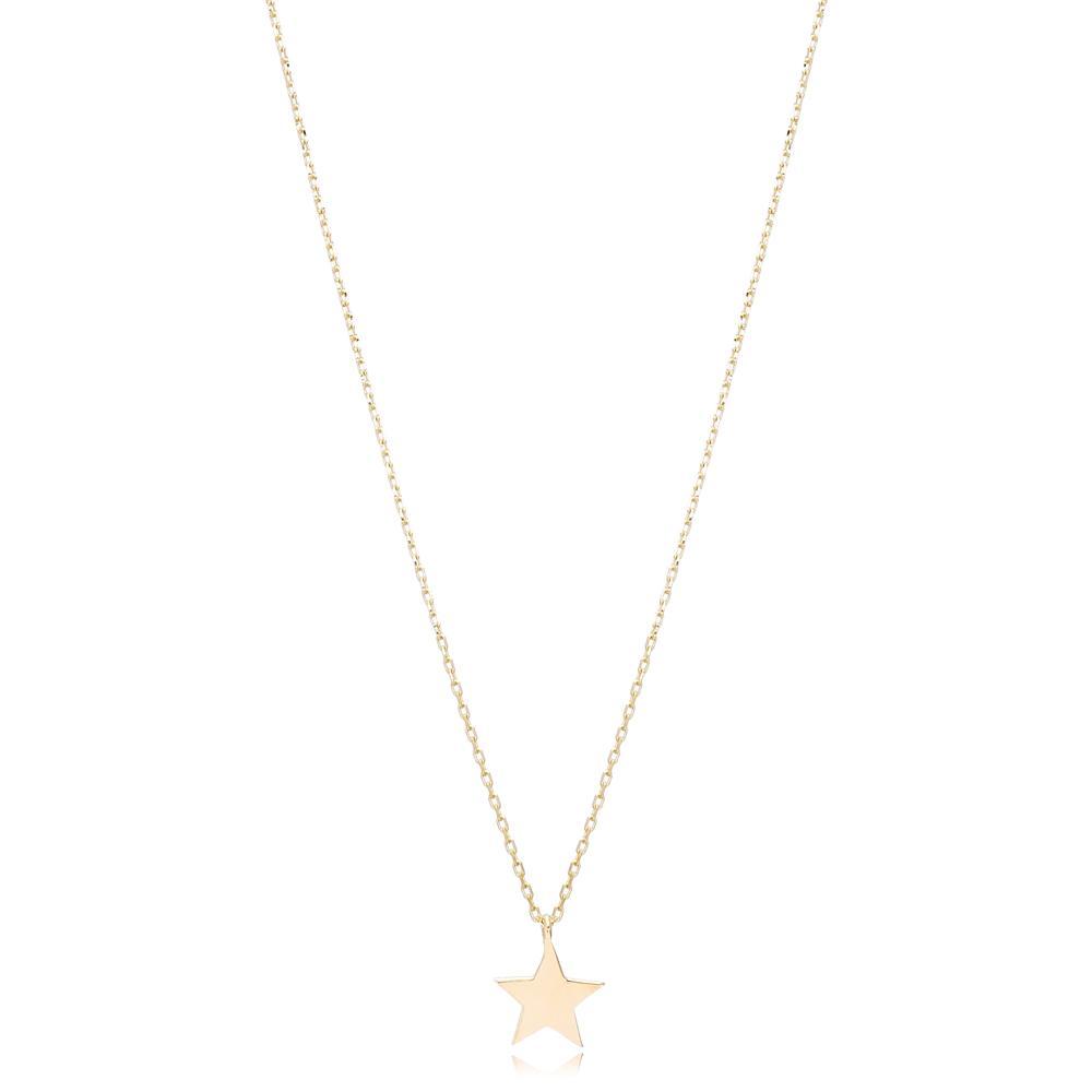 14K Gold Star Pendant Turkish Wholesale Gold Jewelry