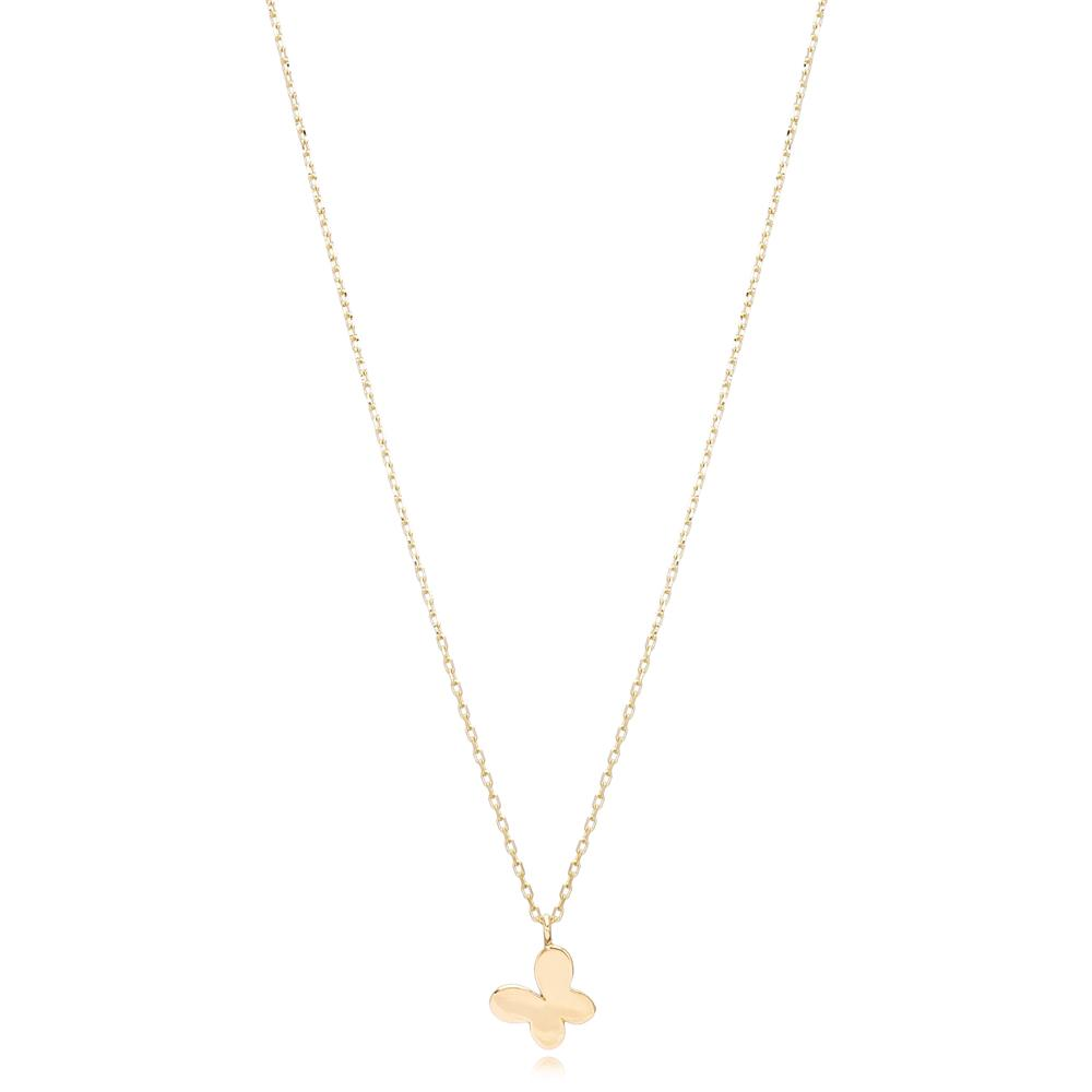 14K Gold Butterfly Pendant Turkish Wholesale Gold Jewelry