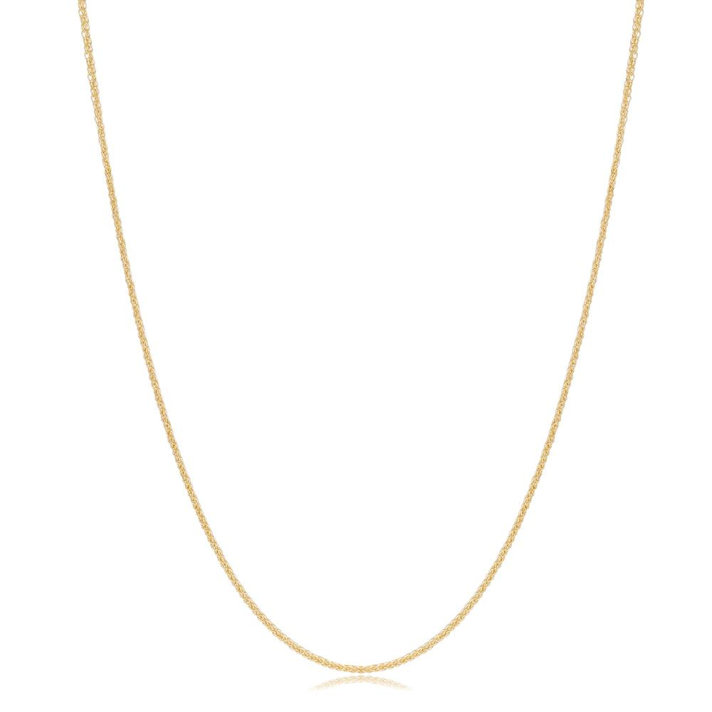 14K Gold 1.00 mm Foxtail Necklace Turkish Wholesale Gold Jewelry