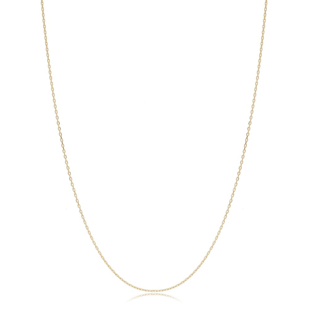 14K Gold 0.70 mm Forse Necklace Turkish Wholesale Gold Jewelry